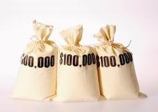 sacs d'argent photographie stock libre de droits