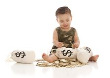 Sacs d'argent ! image stock
