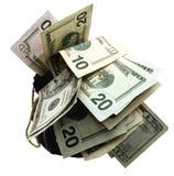 Sacs d'argent Photographie stock