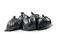 Sacs d'ordures noirs images stock