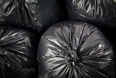 Sacs d'ordures noirs photographie stock libre de droits