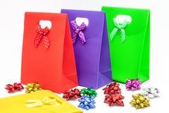 Sacs de cadeau Photos stock