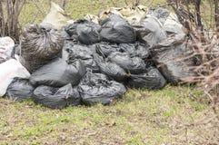 Sacs de déchets image stock
