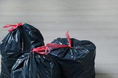 Sacs de déchets photo stock