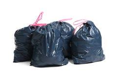 Sacs de déchets photographie stock