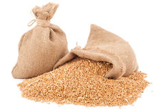 Sacs de grains de blé image stock