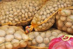 Sacs de pommes de terre Photographie stock