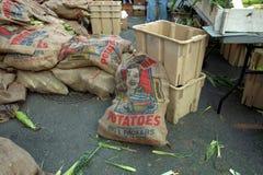 Sacs de pommes de terre de textile Photo stock