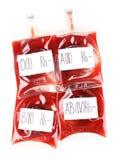 Sacs de sang Photographie stock libre de droits