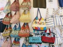 Sacs de Santorini, Grèce Photo stock