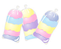 Sacs de sucrerie de coton Photographie stock libre de droits