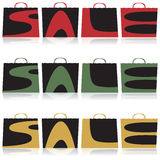 Sacs de vente Photo stock