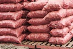 Sacs des pommes de terre Photographie stock libre de droits
