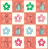 Sacs et configuration de fleurs illustration de vecteur
