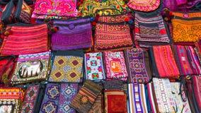 Sacs fabriqués à la main en Thaïlande Image libre de droits