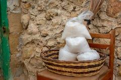 Sacs Gozo de sel photos stock