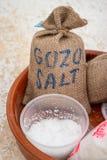 Sacs Gozo de sel photographie stock