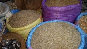 Sacs marocains d'herbes photographie stock libre de droits