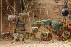 Sacs multicolores de dames de souvenir dans le style de J traditionnel photos libres de droits