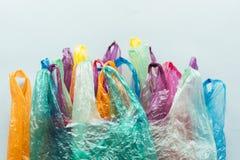 Sacs multicolores jetables photos stock