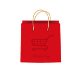 Sacs rouges de vente Images stock
