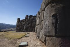 Sacsayhuamán ściana Obraz Royalty Free