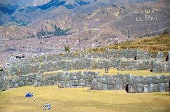 Sacsayhuamán, Cuzco, Perù Stock Images