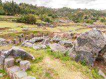 Sacsayhuaman废墟,库斯科省,秘鲁 免版税图库摄影