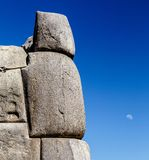 Sacsayhuaman考古学印加人` s神圣的站点,秘鲁 免版税图库摄影