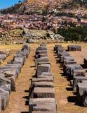 Sacsayhuaman考古学站点,秘鲁 库存图片
