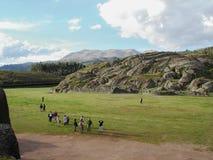 Sacsayhuaman,库斯科省考古学站点,在秘鲁 免版税图库摄影