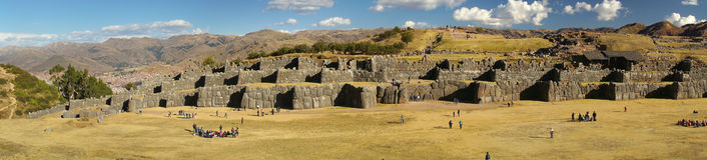 Sacsayhuaman,库斯科,秘鲁堡垒  免版税图库摄影