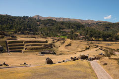 Sacsayhuaman, archeological Inca site Royalty Free Stock Image
