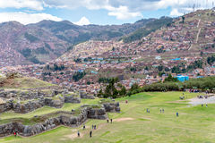 Sacsayhuaman Archeological site, Cusco, Perù. Sacsayhuaman is a very important incas archeological site located near Cusco.nIt`s characterized for the big stone Royalty Free Stock Images
