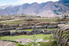 Sacsayhuaman Archeological site, Cusco, Perù. Sacsayhuaman is a very important incas archeological site located near Cusco.nIt`s characterized for the big stone Stock Image