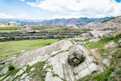 Sacsayhuaman Archeological site, Cusco, Perù. Sacsayhuaman is a very important incas archeological site located near Cusco.nIt`s characterized for the big stone Stock Images