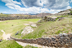 Sacsayhuaman Archeological site, Cusco, Perù. Sacsayhuaman is a very important incas archeological site located near Cusco.nIt`s characterized for the big stone Royalty Free Stock Photos