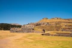 Sacsayhuaman, archeologische Inca-plaats Stock Afbeeldingen