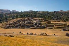 Sacsayhuaman, archeologische Inca-plaats Stock Afbeelding