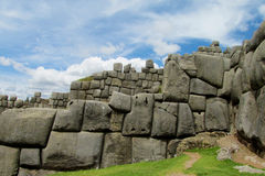 Sacsayhuaman citadel in Cuzco, Peru stock image