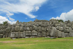 Sacsayhuaman citadel in Cuzco, Peru stock images