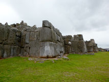 Sacsayhuaman citadel. Saksaywaman citadel on the northern outskirts of the city of Cusco, Peru Royalty Free Stock Photography