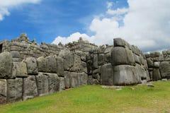 Sacsayhuaman citadel wall in Cuzco, Peru Stock Photography