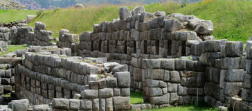 Sacsayhuaman city wall ruins in Peru royalty free stock images