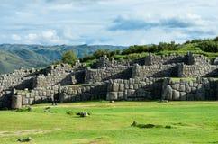 Sacsayhuaman in Cusco, Peru. Sacsayhuaman, Inca ruins in Cusco, Peru Royalty Free Stock Photo
