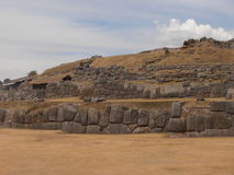 Sacsayhuaman, Cusco, Peru. Sacsayhuaman is a walled complex on the northern outskirts of the city of Cusco Stock Photo