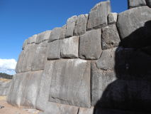 Sacsayhuaman, Cusco, Peru. Sacsayhuaman is a walled complex on the northern outskirts of the city of Cusco and popualar tourist destination Stock Image