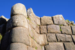 Sacsayhuaman, Cuzco Peru. Photos of the incredible rock walls of Peru. These are some of the most enormous rocks I 've ever seen, and can not imagine how they stock image