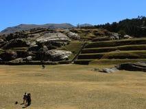 Sacsayhuaman dans Cusco, Pérou photos libres de droits