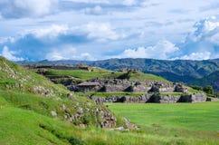 Sacsayhuaman i Cusco, Peru Royaltyfria Foton